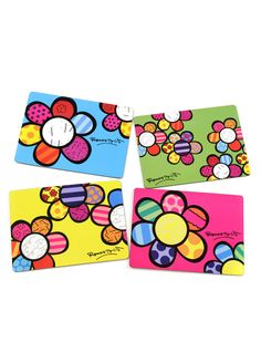 Cork Back Placemats - Flowers <3VIBRANT & FUN<3