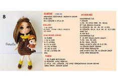 Crochet Baby Socks, Crochet Beanie, Diy Crochet, Crochet Dolls Free Patterns, Baby Knitting Patterns, Handmade Soft Toys, Amigurumi Doll, Jessie, Charts