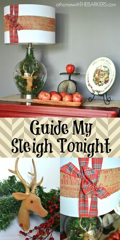 Guide My Sleigh Tonight Lamp {Lamps Plus Holiday Design Challenge} #homedecor #holidayhometour