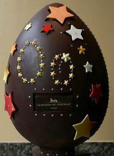 Huge and giant chocolate Easter Egg