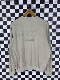 cc16a83aa KENZO JEANS Crewneck Medium Jumper Vintage 90's Kenzo Japan Designer Casual Streetwear  Sweater Pullover Kenzo Homme Sweatshirt Size M