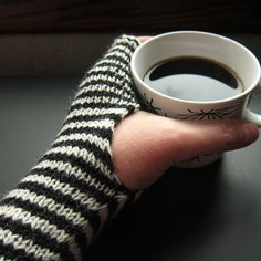 Breton Stripe Handwarmers by katbaro