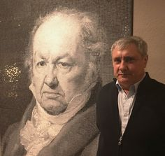 Vicente Atarés with the Francisco de Goya Mosaic. Collage Techniques, Spanish Artists, Mosaic Designs, Mosaic Art, Sculpture, Prints, Photography, Painting, Collection