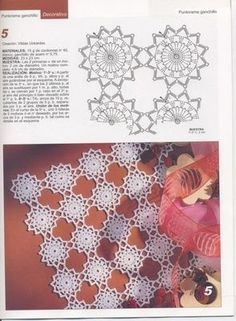 Patterns and motifs: Crocheted motif no. 820