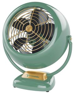Vornado Retro VFAN This retro wind blower from famed fan maker Vornado is truly a sight to behold. With it's smooth lines and gorgeous paint job, the VFAN would be right at home in any room no matter what the décor. Features includes a pivoting head for optimum air circulation and three different speed settings. Available colors include polished stainless, red, and green.