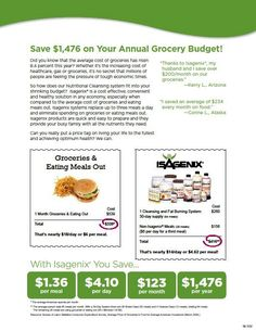 Isagenix cost breakdown and price comparisons - Have you priced any disease lately? Truly this is the healthiest, most rewarding program!