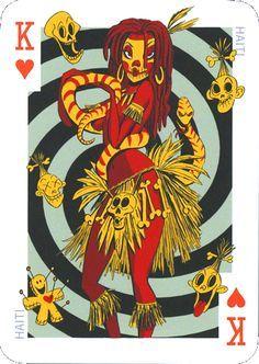 pin-up door koolcarpics op Etsy Character Art, Character Design, Playing Cards Art, Bd Comics, Pinup Art, Sexy Cartoons, Art Design, Deck Of Cards, Card Deck