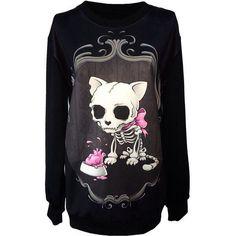 #gato #comida #esqueleto #suéter :3) #chica
