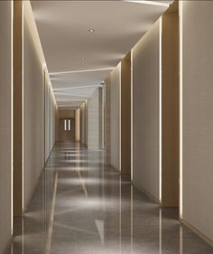 Wuhan Office 9 - Flight, Travel Destinations and Travel Ideas Hotel Hallway, Hotel Corridor, Clinic Interior Design, Clinic Design, Ceiling Design, Wall Design, House Design, Corridor Lighting, Interior Lighting
