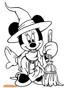 Free disney halloween coloring sheets disney halloween for Minnie mouse halloween coloring pages