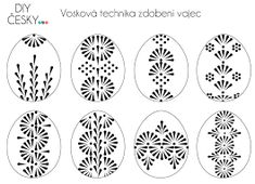 Motivy na velikonoční kraslice Easter Egg Crafts, Easter Projects, Polish Easter, Easter Egg Pattern, Carved Eggs, Lace Painting, Ukrainian Easter Eggs, Egg Art, Pointillism