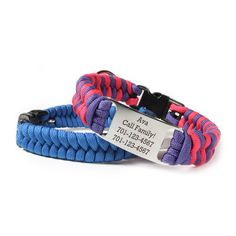 Personalized Fishtail Paracord Dog Collar DIY Kit - Perfect for toy and small dog breeds! Amazing selection of color combinations!