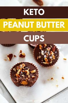 These easy Keto Peanut Butter Cups are absolutely delicious and easy to make! With stevia sweetened Lilys chocolate, and coconut oil, this no bake low carb treat is one you will enjoy again and again. Great treat to enjoy when you are trying to cut back on carbs. Definitely one to PIN!  #KickingCarbs #wendypolisi #KetoRecipes #KetoPeanutButterCups #keto #peanutbuttercups #ketorecipe #fatbombs #fatbombrecipe #lowcarb Chocolate Peanut Butter Cups, Peanut Butter Balls, Melting Chocolate, Keto Holiday, Holiday Recipes, Chocolate Benefits, Lchf Diet, Fat Bombs, Sweet And Salty