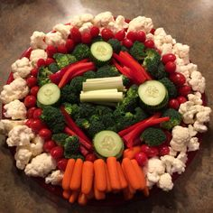 Baseball diamond veggie tray!
