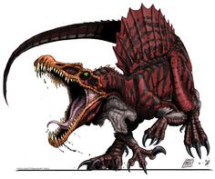 Cool drawing of Spinosaurus, who may most likely be the largest land predator. Cool drawing of Spinosaurus, who may most likely be the largest land predator. Dinosaur Drawing, Dinosaur Art, Dinosaur Crafts, Dinosaur Photo, Prehistoric Creatures, Mythical Creatures, Jurrassic Park, Raptor Dinosaur, Cool Dinosaurs