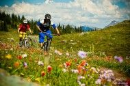 """I call this the """"ride to the hut"""" but it's Keystone/Standard Basin in Revelstoke, BC. Crazy-beautiful. Photo of the Day: Ryan Creary - BIKE Magazine"""