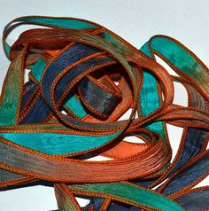 Odyssey 42 inch silk ribbon By Color Kissed by ColorKissedSingles, $3.50