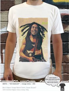 BOB MARLEY Men's t-shirt Bob Marley T Shirts, Concept Clothing, Simple Shirts, Mens Tees, Organic Cotton, Colours, T Shirts For Women, Neutral, Clothes