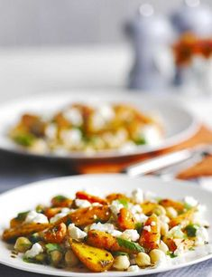 A super-fast vegetarian meal made with bulgar wheat. With feta and broccoli, this is a substantial main-course salad that can be served as a side dish for four or a main for two. The garlic, lemon and olive oil is tossed through the mix with the other ingredients to make an instant dressing.