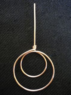 how to make a double circle shape, can be used for earrings