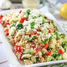 Crunchy Mediterranean Couscous Salad | Laughing Spatula
