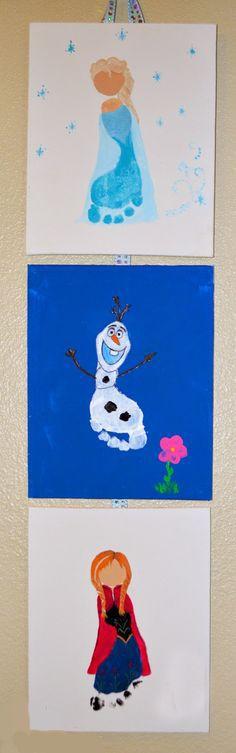 Disney Frozen Feet Art
