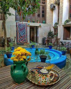 Old time backyard in Iran