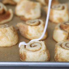These gluten free cinnamon roll sugar cookies somehow manage to be soft and tender, and even light and flaky. Just like a real cinnamon roll—but in a neat little cookie. Gluten Free Cinnamon Rolls, Cinnamon Roll Bread, Cinnamon Roll Cookies, Rolled Sugar Cookies, Real Cinnamon, Keto Cookies, Gluten Free Sugar Cookies, Gluten Free Sweets, Gluten Free Baking