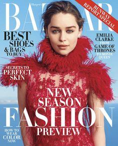 Emilia Clarke for Harper's BAZAAR US June/July 2015 Cover