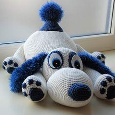 Haakpatroon Hondje Joy - creations2love Diy Crochet, Crochet Toys, Flamingo, Baby, Snoopy, Elsa, Dolls, Knitting, Baby Dolls