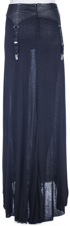 Widow Garter Belt Maxi Skirt | Dolls Kill