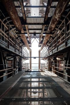 'The way out' by jrej Abandoned Factory, Industrial Architecture, Abandoned Places, Abandoned Homes, Industrial Photography, Scenic Design, Environmental Art, Industrial Chic, Gotham