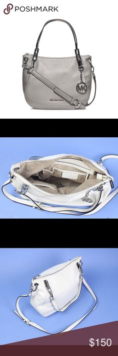 Michael Kors Brooke Tote medium shoulder bag Brooke Medium Tote.  Textured leather, is super soft. In excellent used condition. **Silver tone hardware** Zipper top closure. Leather shoulder and handle straps with rings and buckle; Inside, fabric lining; 1 zip and 4 open pockets, Key chain. storage bag included Michael Kors Bags Shoulder Bags