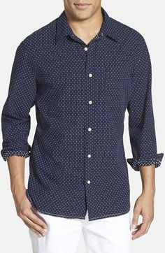 Surfside Supply Dobby Long Sleeve Sport Shirt available at #Nordstrom