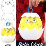 Baby Chick – Easter craft (krokotak) – Back to School Crafts – Grandcrafter – DIY Christmas Ideas ♥ Homes Decoration Ideas Egg Crafts, Easter Crafts For Kids, Toddler Crafts, Paper Crafts, Kids Diy, Decor Crafts, Easter Activities, Craft Activities, Preschool Crafts