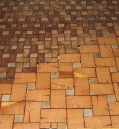 This is just wonderful... End Grain Cobble Block Wood Tile Flooring