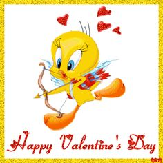 Happy Valentines day Gif Tweety Bird Images