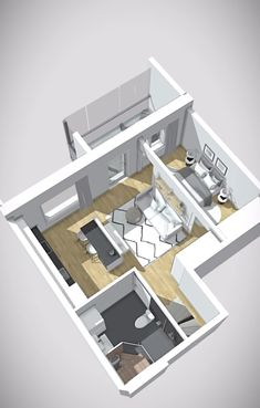 House Floor Design, Sims 4 House Design, Small House Design, Sims House Plans, House Layout Plans, Tiny House Layout, Studio Apartment Layout, Small Apartment Design, Home Building Design