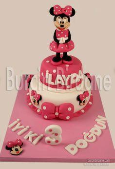 minnie mouse pasta | Minnie Mouse Pasta, Cupcake ve Kurabiyeleri