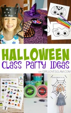 Halloween Classroom Party Ideas Tons of Halloween Classroom party ideas that are sure to be a hit at your Halloween class party this year! Source by funlovingfamilies Diy Halloween Gifts, Diy Halloween Home Decor, Classroom Halloween Party, Halloween Decorations For Kids, Halloween Activities For Kids, Halloween Projects, Kid Activities, Halloween Treats, Halloween Costumes