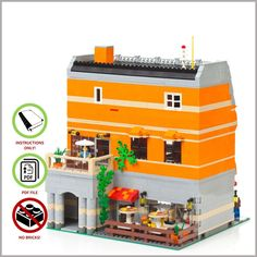 LEGO MOC Modular Ice Cream Store - CUSTOM Model - PDF Instructions Manual | Toys & Hobbies, Building Toys, LEGO | eBay!