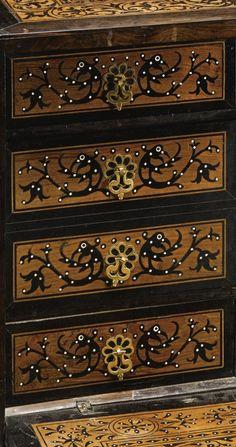 Inspiration: (detail) INDO-PORTUGUESE INLAID CABINET, GOA, INDIA, 17TH CENTURY