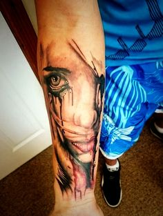 Tattoo Photos, Watercolor Tattoo, Portrait, Tattoos, Tattoos Pics, Tatuajes, Men Portrait, Watercolour Tattoos, Tattoo