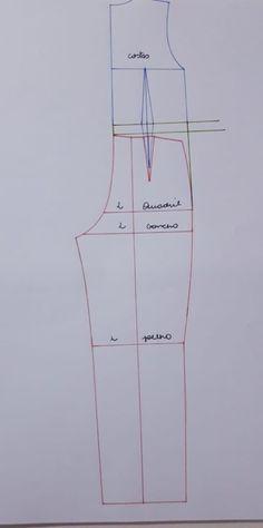 APRENDA BASE DE MACACÃO – SIHBLOG Coat Patterns, Dress Patterns, Sewing Tools, Sewing Tutorials, Pattern Drafting, Jacket Pattern, Fashion Sewing, Pattern Making, Pattern Fashion