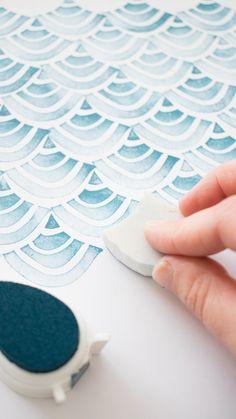 Patroon stempelen met handgemaakte stempel #stempelen #instaswap