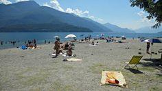 Serenella beach in Gravedona, Lake Como | Spiaggia Serenella a Gravedona, Lago di Como www.agriturismolagodicomo.net