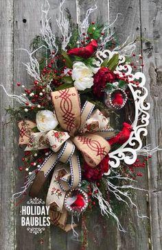New Christmas Door Decoration All Things Christmas, Christmas Holidays, Christmas Crafts, Etsy Christmas, Holiday Wreaths, Holiday Decor, Winter Wreaths, Xmas Decorations, Xmas Tree