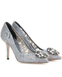 Dolce & Gabbana | Bellucci Embellished Lace Pumps |  Lyst