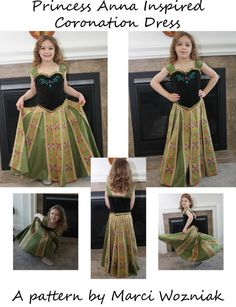It's here!!! Frozen Princess Anna Inspired Coronation Dress PDF by mlwozniak, $9.50