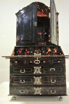 stunning tortoiseshell writing cabinet